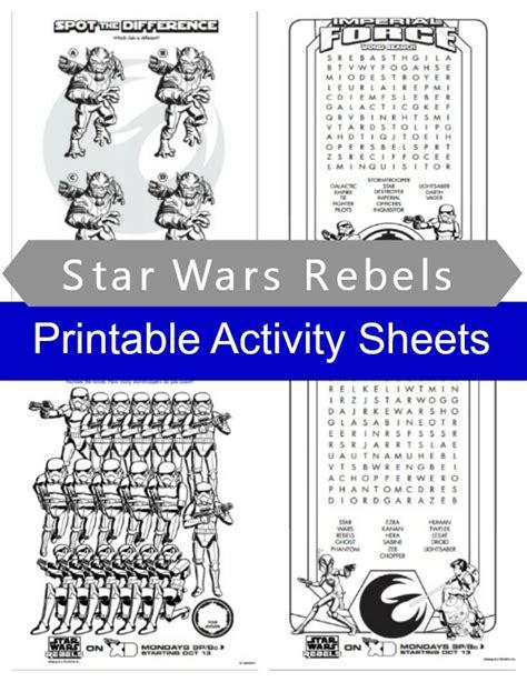 printable star wars activity book star wars printable activities bing images