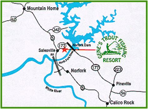 arkansas trout fishing maps pictures directions