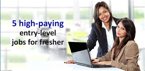 Highest Paid Entry Level Mba 5 high paying entry level for fresher career