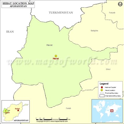 herat map where is herat located in afghanistan