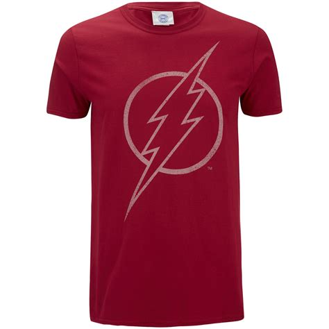 Tshirt Flash Merch Must by Dc Comics S The Flash Line Logo T Shirt Cardinal