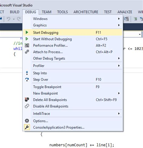 reset visual studio keyboard settings change visual studio debugging shortcut keys stack overflow