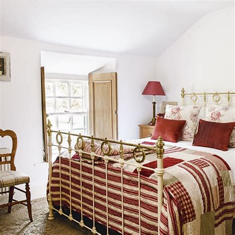 red country bedroom main bedroom with red and cream accents be inspired by