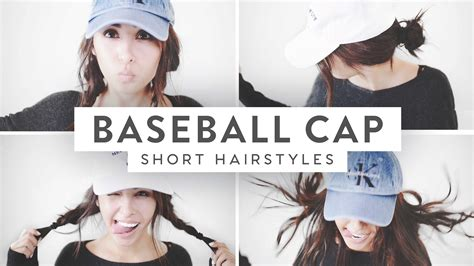 short vintage cap cut hairstyle 3 baseball cap hairstyles medium short hair youtube