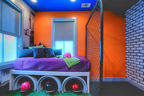 baffling design ideas of cool kid bedroom with black color cool bedroom ideas with graffiti theme