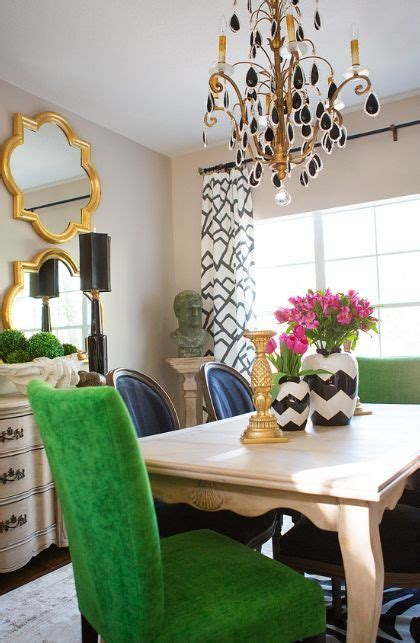 glam dining space eclectic dining room images