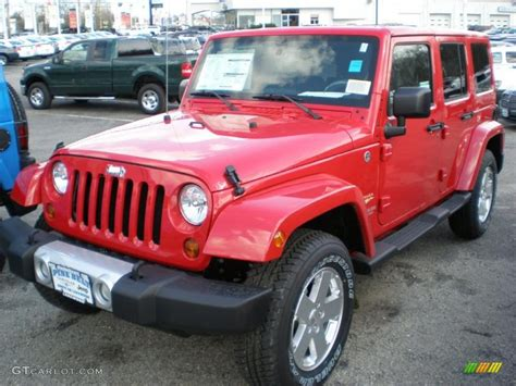 jeep sahara red 2011 flame red jeep wrangler unlimited sahara 4x4