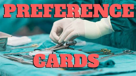 surgeon preference card template preference cards in the or