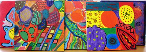 painting in school gorgeous abstract in grade seven alejandra chavez