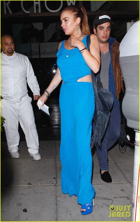 Style Stealer Lindsay Lohans Blue Dress by Lindsay Lohan S Blue Maxi Dress