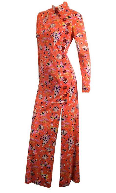 Kebaya Mini Dress Knf 1373 mandarin novelty print auntie mame cheongsam lounge gown