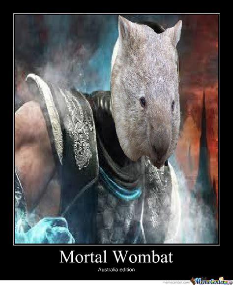 Wombat Memes - mortal wombat by envy meme center