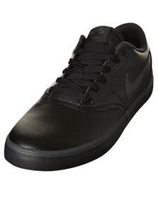 black nike shoes womens nike womens sb check solar leather bts shoe black
