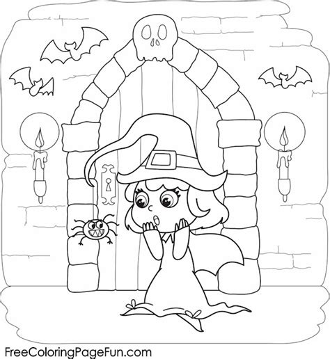 free halloween coloring pages witch amp haunted castle