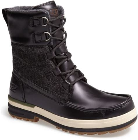 ugg snow boots mens ugg ory snow boot in black for lyst