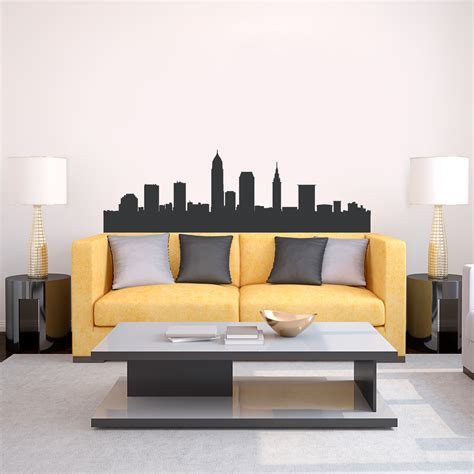 skyline wall sticker cleveland ohio skyline vinyl wall decal sticker