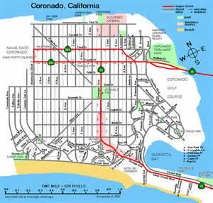 coronado california map california map