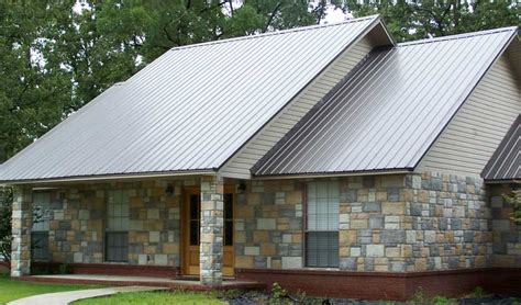 brown standing seam metal room modern traditional design