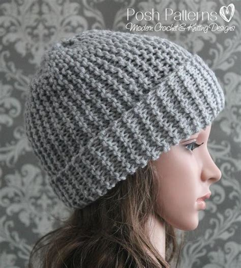 slouchy beanie knitting pattern for beginners knitting pattern beginner knit slouchy hat pattern