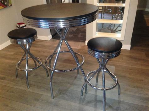 Used Bar Stools And Tables For Sale by High Retro Table And 2 Bar Stools For Sale 120 Obo