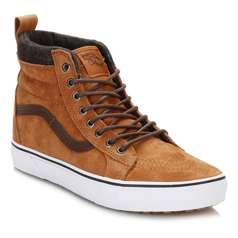 Sepatu Vans Sk8 Hi Gray Dt Bnib Premium Import vans mens trainers brown sk8 high tops suede casual shoes ebay