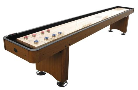 14 honey oak playcraft woodbridge shuffleboard table