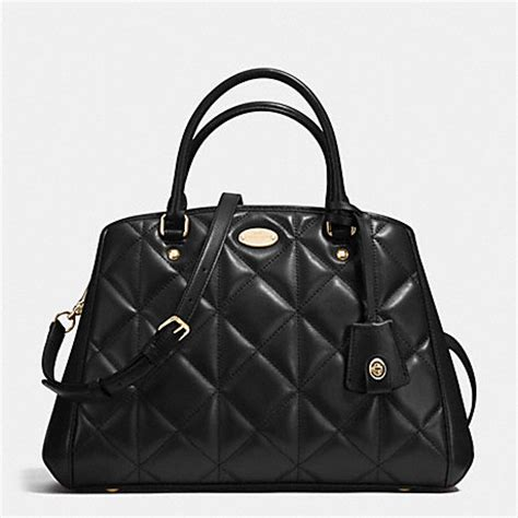 Coach Small Margot Carryall Black small margot carryall in quilted leather f36679 imitation gold black coach handbags