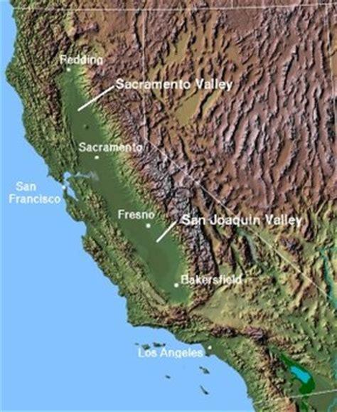 map of valley california central valley california