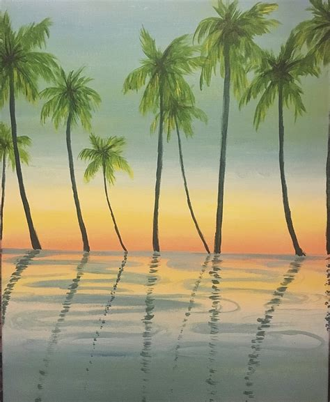 paint nite palm springs groupon paint nite morning palm trees