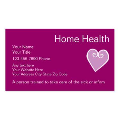 94 home health care business cards and home health care