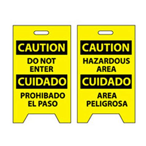 signs floor floor sign caution do not enter cuidado