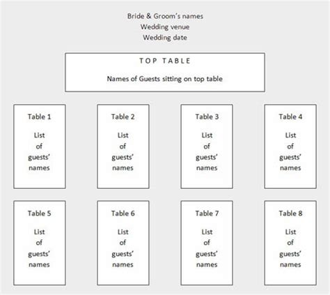 table layout for wedding reception templates wedding table plan template release portrait seating chart