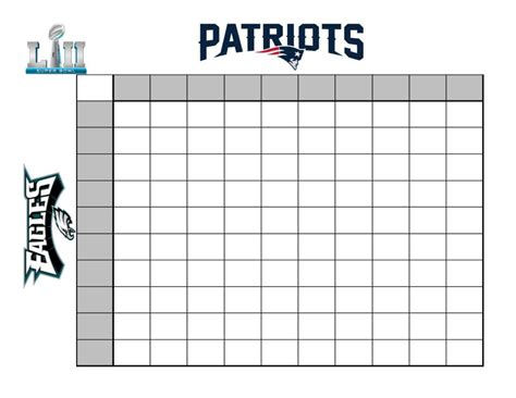 How To Create A Fun Super Bowl Betting Chart Bowl Box Template