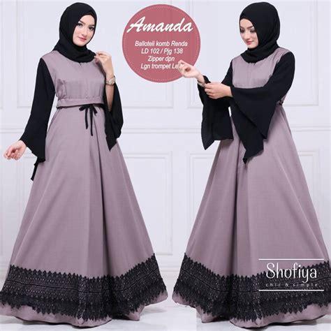 Baju Muslim Amanda Dress gamis muslim terbaru baju muslim terbaru amanda dress by