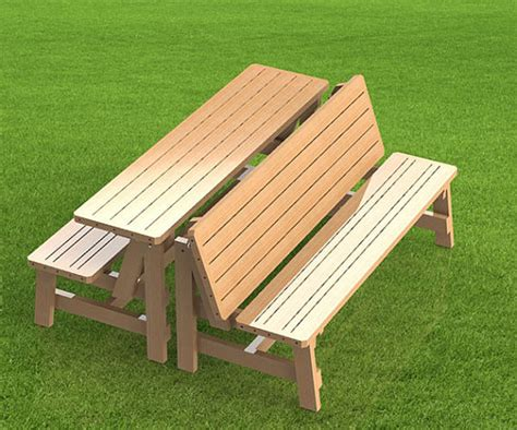 picnic table and bench convertible 6ft bench to picnic table combination building