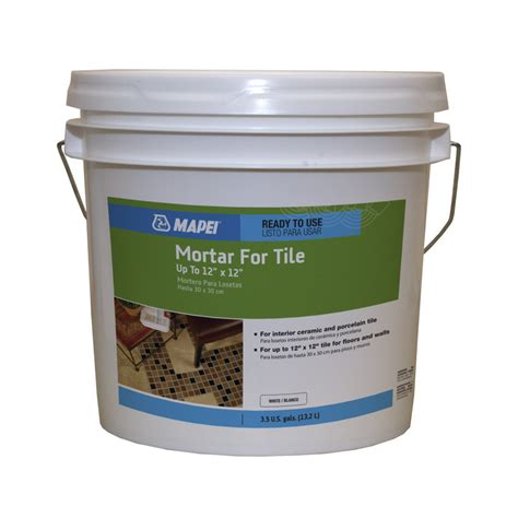 shop mapei 44 1 2 lbs white liquid dry thinset mortar at