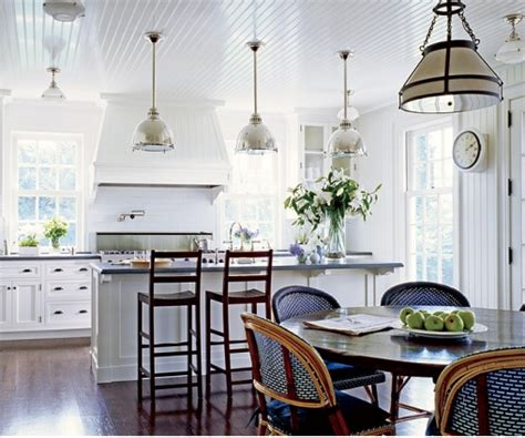 white kitchen pendant lights htons style house nantucket island stylish livable spaces