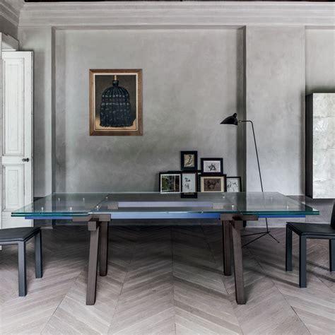 tavolo di cristallo allungabile bonaldo tracks tavolo allungabile cristallo legno di