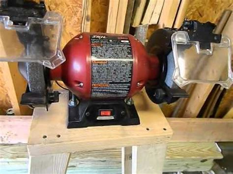 how to make a bench grinder stand scrap wood project bench grinder stand youtube