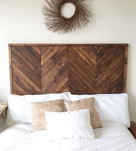 wood diy headboard best 25 herringbone headboard ideas on pinterest spare