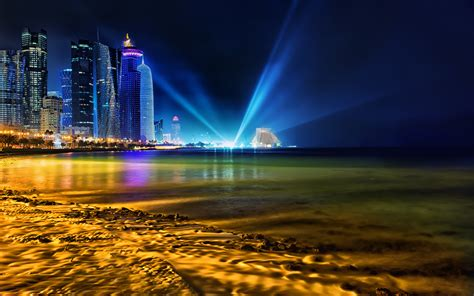 wallpaper hd qatar doha qatar skyline wallpapers hd wallpapers id 13216