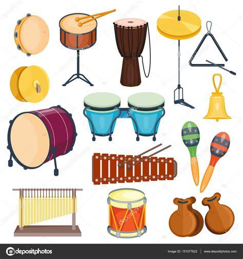 imagenes instrumentos musicales de percusion instrumentos musicales de percusi 243 n de vector plano estilo