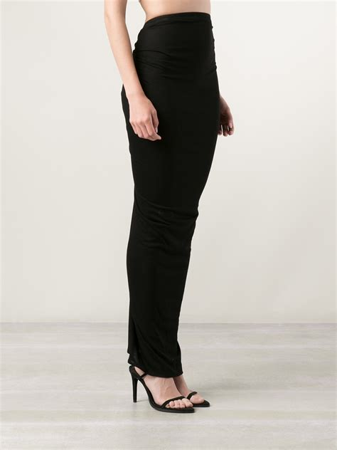 black tight maxi skirt redskirtz