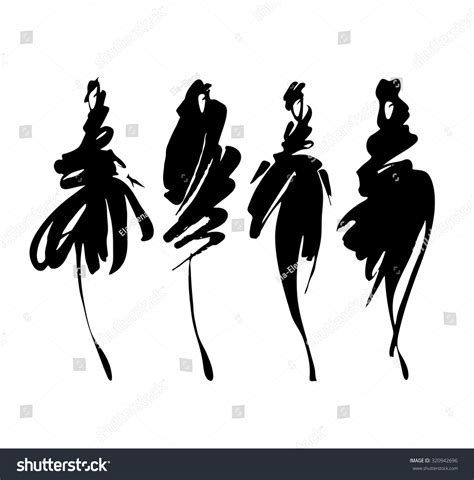 fashion illustration silhouettes fashion models sketch stylized silhouettes