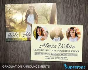 High School Graduation Announcements Templates by Graduation Announcements Templates Graduation Card Templates
