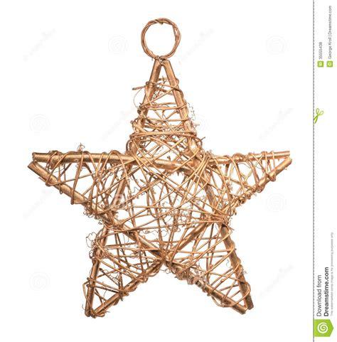 wicker christmas star stock photo image  white wood