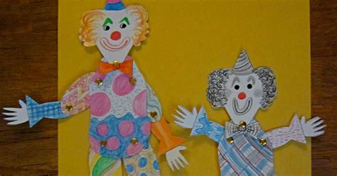 How To Make A Paper Clown - weavings paper clowns
