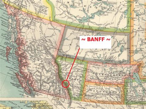 Map Of Banff Canada by 301 Moved Permanently