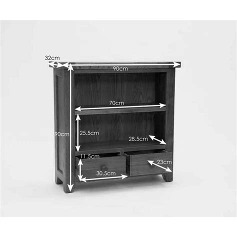 low 2 shelf bookcase small low 2 shelf bookcase with drawers solid oak