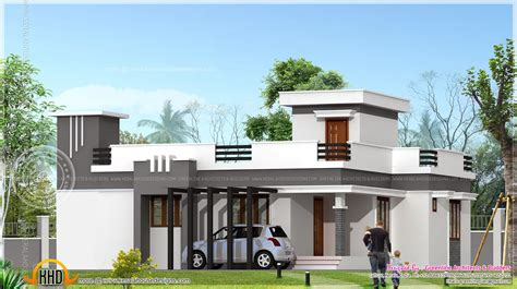 small contemporary home in 1200 sq kerala home